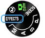 특수 효과 모드 기능 설명 : 카메라 촬영 모드 버튼을 돌려 EFFECTS로 설정