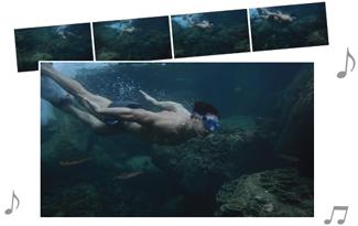 모션 스냅 사진 모드 예제이미지 : 잠수하는 남성