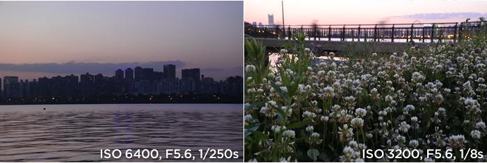 샘플사진 ISO 6400, F5.6, 1/250s, ISO 3200, F5.6, 1/8s