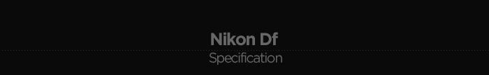 Nikon Df 제품사양
