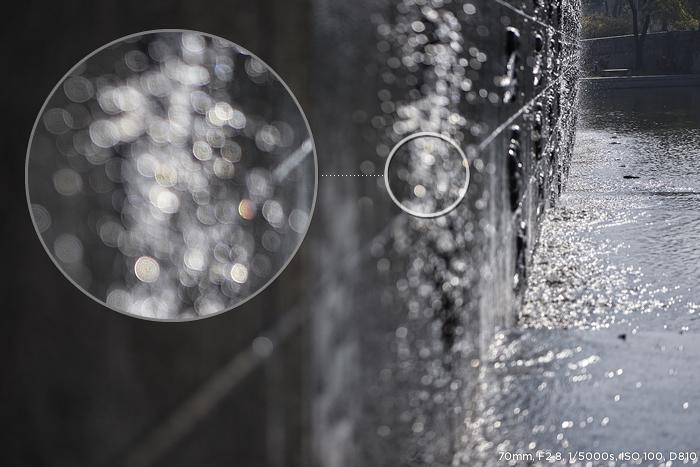 70mm F2.8 1/5000s ISO 100 D810 샘플사진 보케효과 부분 확대 이미지