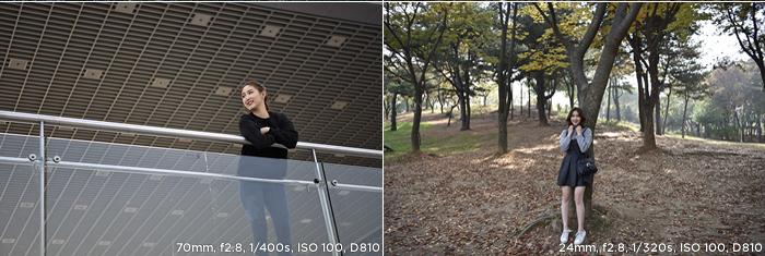 70mm f2.8 1/400s ISO 100 D810/ 24mm f2.8 1/320s ISO 100 D810 샘플사진