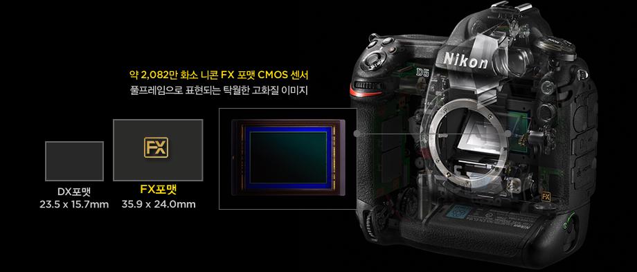 약 2,082만 화소 니콘 FX 포맷 CMOS 센서, 풀프레임으로 표현되는 탁월한 고화질 이미지